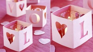decoración san valentin portavelas love